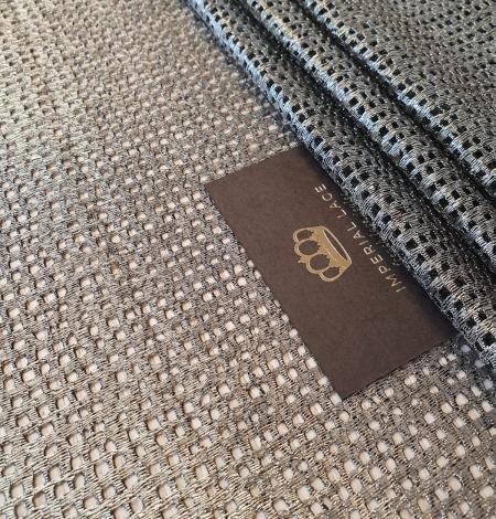 Metallic color guipure lace fabric . Photo 2