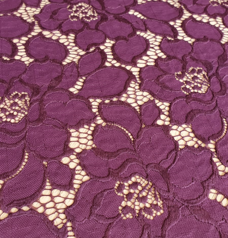 Plum lilac lace fabric. Photo 5