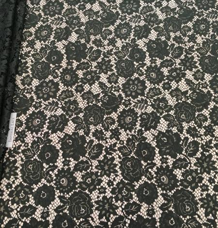 Green lace fabric. Photo 3
