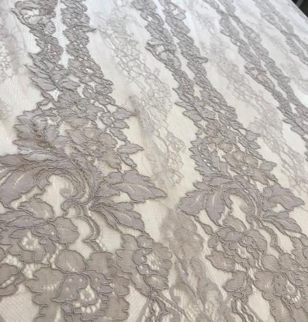 Dark ecru lace fabric. Photo 4