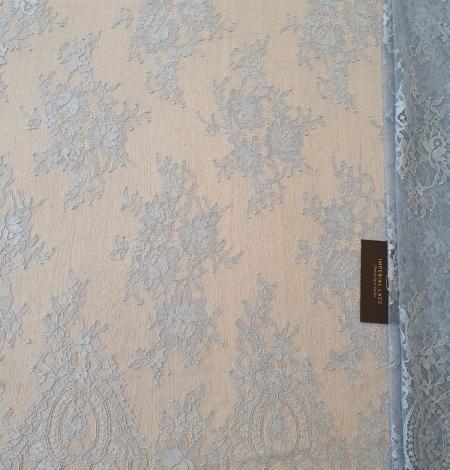 Zili pelēka Puķaina Cantilly mežģīne. Photo 4