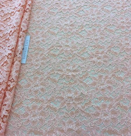 Orange lace fabric. Photo 5