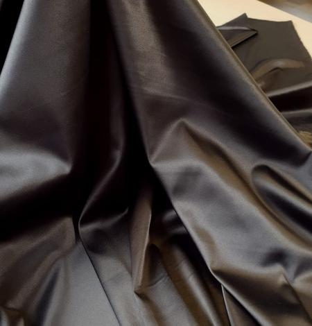 Tumši pelēks satīna audums ar elastānu. Photo 4