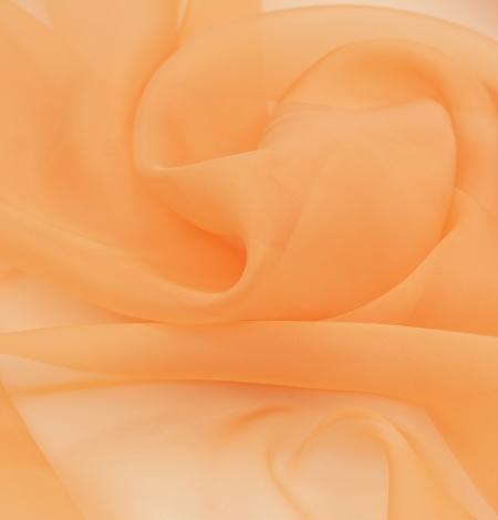 Oranžs zīda organzas audums. Photo 3