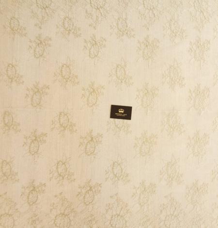 Ziloņkaula ar Zeltu Chantilly mežģine. Photo 6