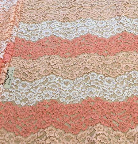Multicolor lace fabric. Photo 8