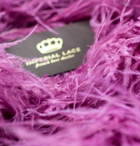 Aveņu rozā naturālas strausa spalvas. Photo 6