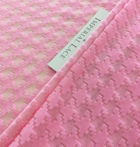 Pink velvet tulle fabric. Photo 1