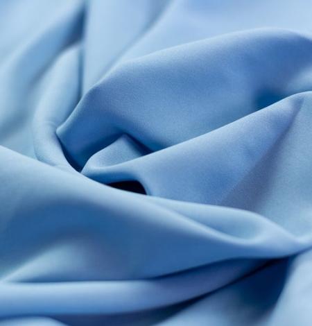 Zils zīda un elastāna krepa audums. Photo 2