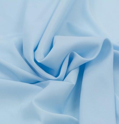 Zils zīds ar elastānu satīna audums. Photo 5