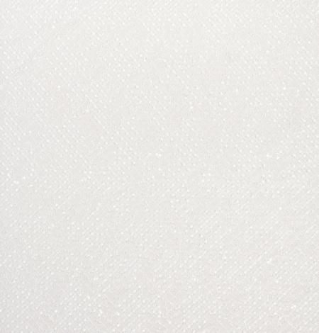 Piena balts pērļots tīkla raksts uz tilla auduma. Photo 6
