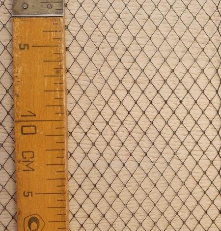 Melnas cepures tīkla tilla audums. Photo 12