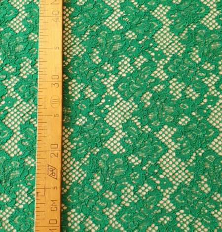 Green guipure lace fabric. Photo 8