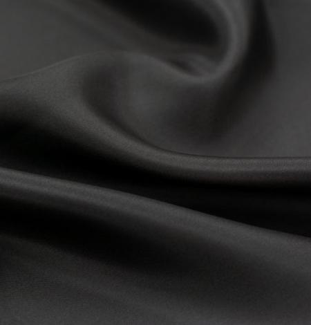 Melni pelēks zīda oderes audums. Photo 4