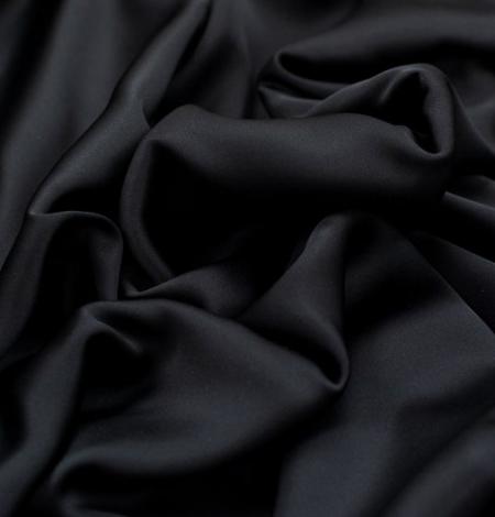 Melns divpusējs zīda satīna audums. Photo 4