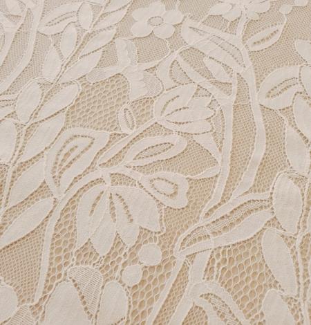 Ziloņkaula puķaina Chantilly mežģine. Photo 9