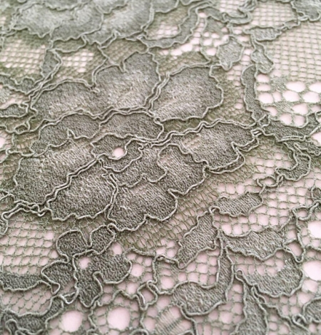 Khaki lace fabric. Photo 3