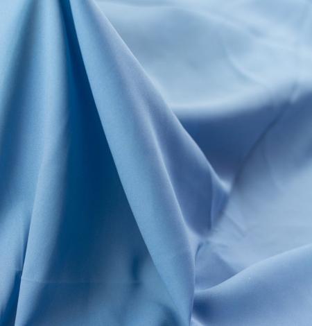 Zils zīda un elastāna krepa audums. Photo 8