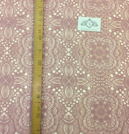 Old Rose lace fabric. Photo 3
