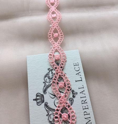 Gaiši rozā macrame mežģīnes maliņa. Photo 1