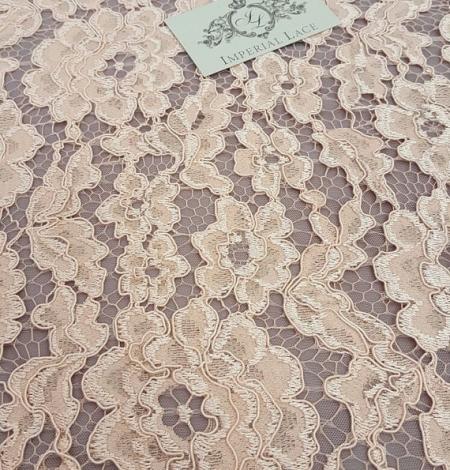 Salmon Lace Fabric. Photo 2