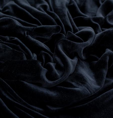Grafīta pelēka zīda samta audums. Photo 4