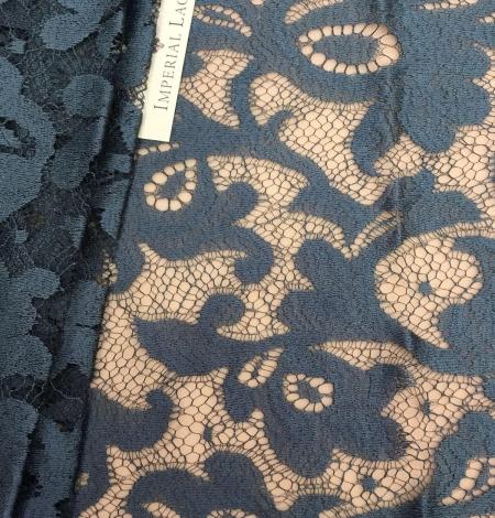Dark turquoise lace Fabric. Photo 1