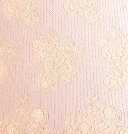 Powder color lace fabric . Photo 6