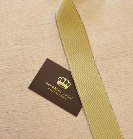 Pistācijas zaļās grosgrain lentes linu lentes aplikācija. Photo 2
