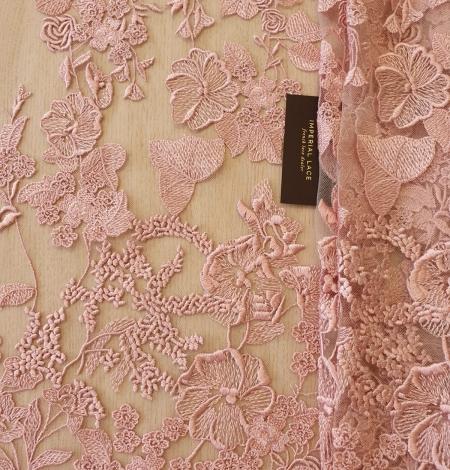 Veci rozā puķains raksts uz tilla auduma. Photo 9