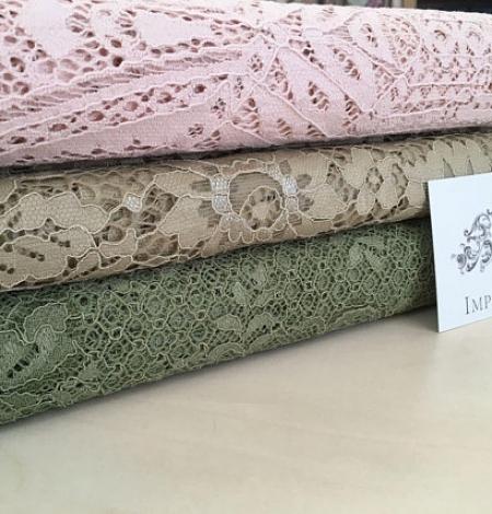 Khaki lace fabric. Photo 6