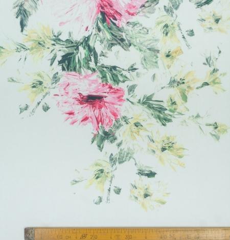 Mikodo poliestera daudzkrāsains printēts audums. Photo 8