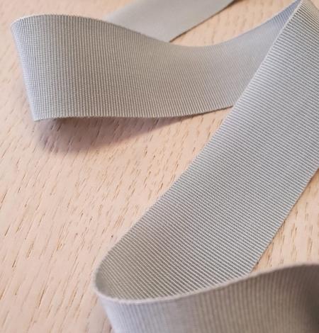 Gaiši pelēcīgi zila grosgrain lente. Photo 3