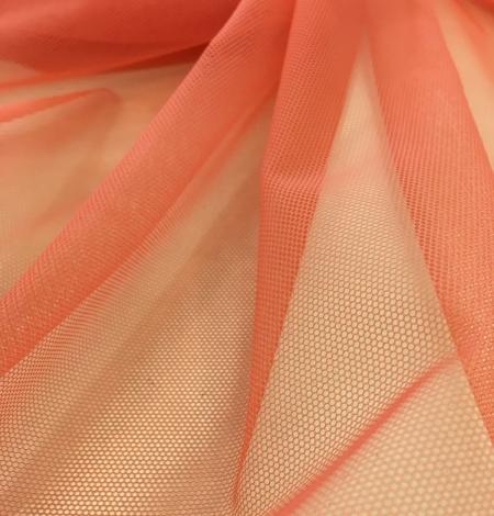 Oranžas krāsas tilla audums. Photo 8