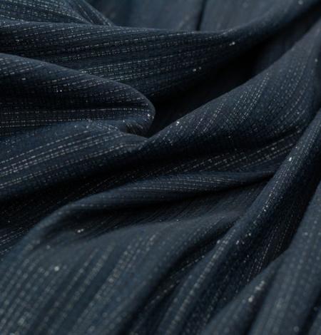 Tumši zils ar sudraba diegu žakarda audumu. Photo 3