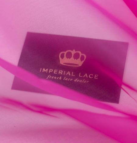 Spilgti rozā zīda organzas audums. Photo 2