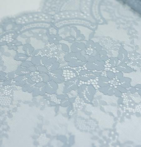 Baložu zils ziedu raksta chantilly mežģīņu audums. Photo 6