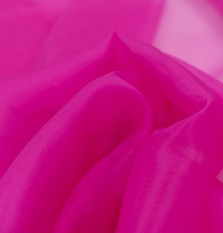 Spilgti rozā zīda organzas audums. Photo 4