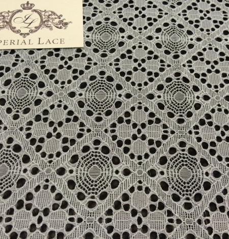 Grey Lace Fabric, French Lace. Photo 3