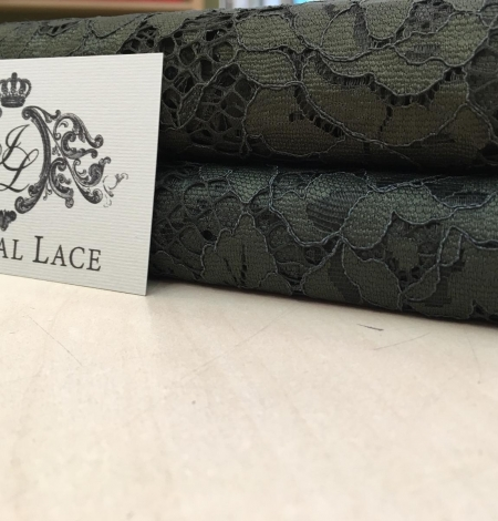Green lace fabric. Photo 6