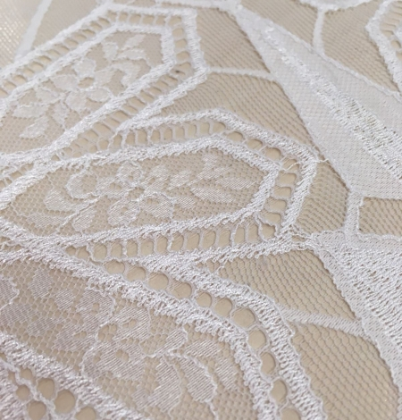White Lace Fabric, French Lace. Photo 2