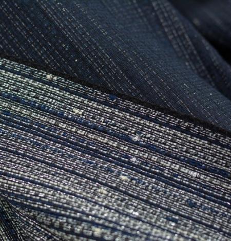 Tumši zils ar sudraba diegu žakarda audumu. Photo 8