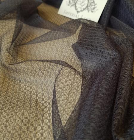 Tumši pelēks ar geometrisko zīmējumu tilla audums. Photo 6