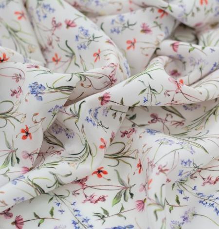 Balts ar romantisku ziedu rakstu zīda audums. Photo 5