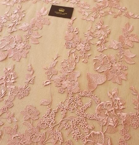 Veci rozā puķains raksts uz tilla auduma. Photo 3