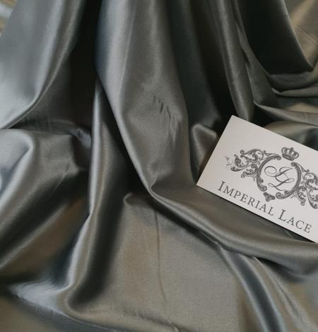 Olīvu zaļš satīna audums ar elastānu. Photo 5