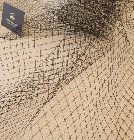 Melnas cepures tīkla tilla audums. Photo 6
