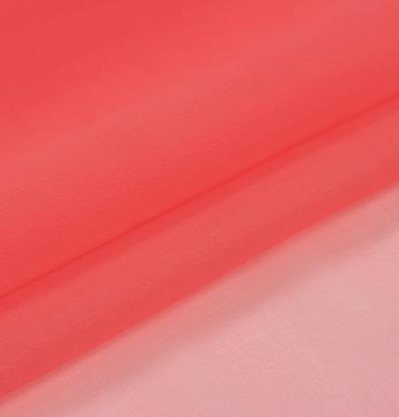Koraļļu oranžs zīda organzas audums. Photo 6