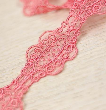 Koraļļu rozā macrame mežģīņu mala. Photo 3