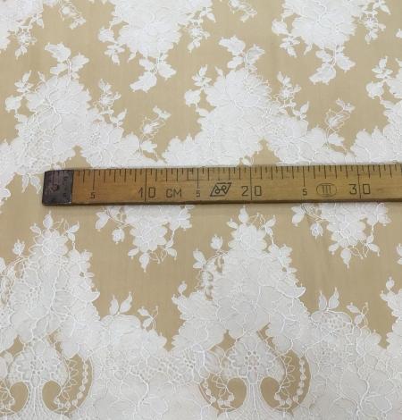 Dark beige lace fabric. Photo 10